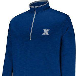 NCAA Men's First Down 1/2 Zip Sweater, Xavier Musk